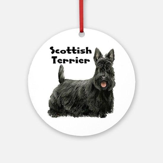 Scottish Terrier Ornament (Round)