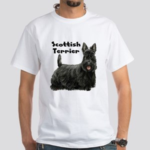 Scottish Terrier White T-Shirt