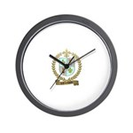 d'ENTREMONT Family Crest Wall Clock