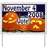 Halloween Pumpkins: Vote! Yard Sign