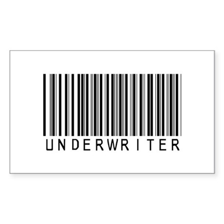 Underwriter Barcode Rectangle Sticker