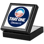 Obama THAT ONE 08 Sig Blue Keepsake Box