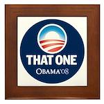 Obama THAT ONE 08 Sig Blue Framed Tile