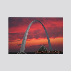 Gateway Arch - Rectangle Magnet