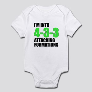 4-3-3 Attacking Formations Infant Bodysuit