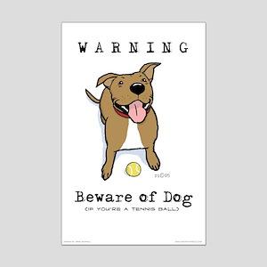 "Beware of Dog 11""X17"" Poster Print"