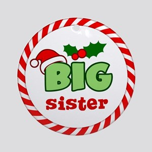 Big Sister Festive Ornament (Round)