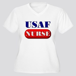 USAF Nurse Women's Plus Size V-Neck T-Shirt