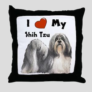 I Love My Shih Tzu Throw Pillow