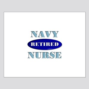 Retired Navy Small Poster