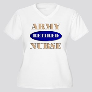 Retired ARMY Women's Plus Size V-Neck T-Shirt