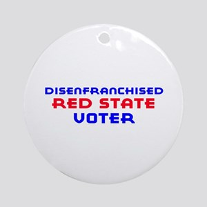 Red State Disenfranchised Ornament (Round)