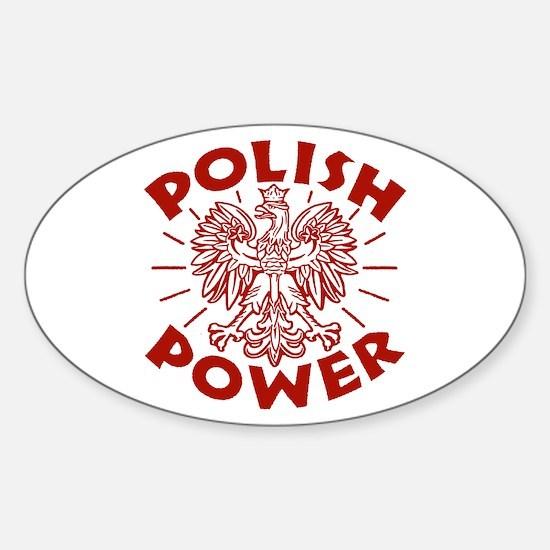 Polish Power Oval Decal