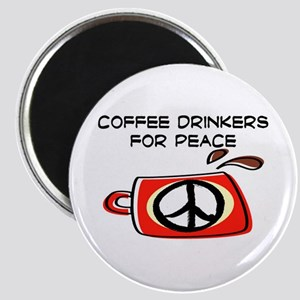 COFFEE DRINKERS FOR PEACE Magnet