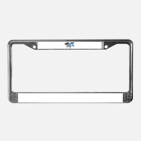 Cool Halloween wolf License Plate Frame