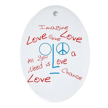 Imagine Oval Ornament