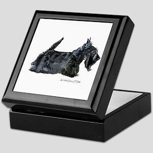 Scottish Terrier Profile Keepsake Box