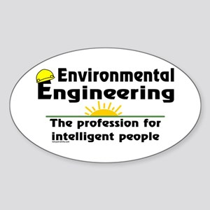 Environmental Genius Oval Sticker