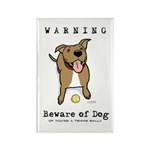 Beware of Dog Rectangle Magnet (100 pack)