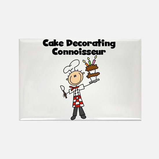 Male Cake Decorator Rectangle Magnet
