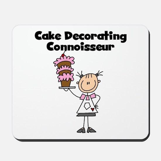 Female Cake Decorator Mousepad