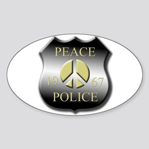 Peace Police Oval Sticker