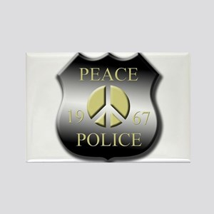 Peace Police Rectangle Magnet