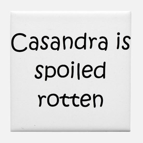 Cute Casandra Tile Coaster
