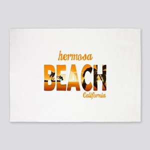 California - Hermosa Beach 5'x7'Area Rug