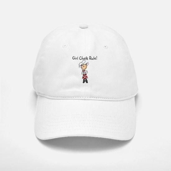 Girl Chefs Rule Baseball Baseball Cap