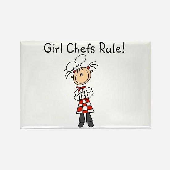 Girl Chefs Rule Rectangle Magnet