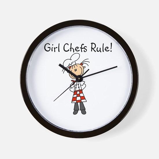 Girl Chefs Rule Wall Clock