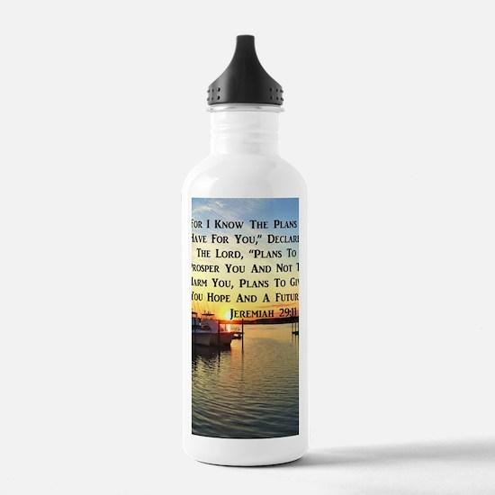JEREMIAH 29:11 Sports Water Bottle