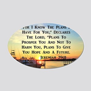 JEREMIAH 29:11 20x12 Oval Wall Decal