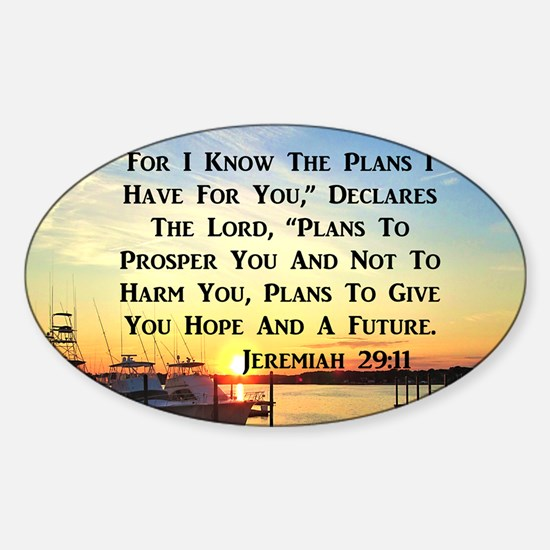 JEREMIAH 29:11 Sticker (Oval)