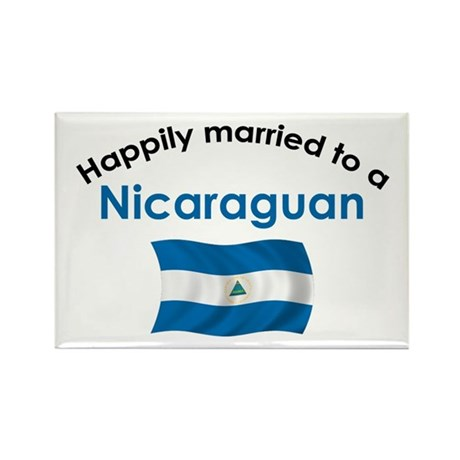 Happily Married Nicaraguan 2 Rectangle Magnet