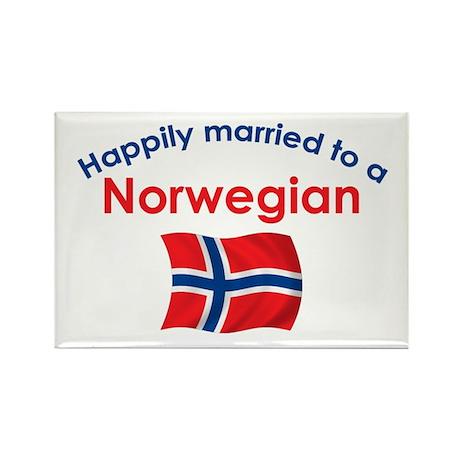 Happily Married Norwegian 2 Rectangle Magnet
