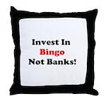 Bingo Investor Throw Pillow