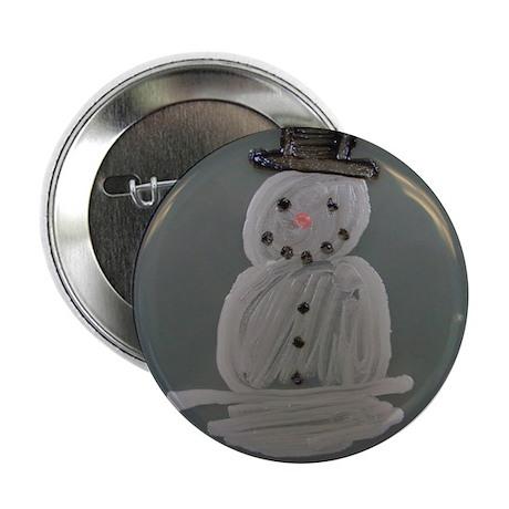 "Snowman 2.25"" Button"