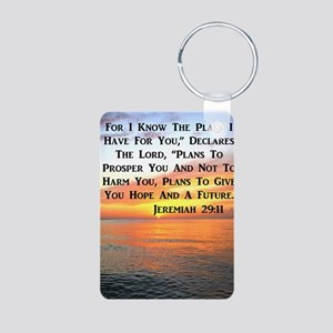 JEREMIAH 29:11 Aluminum Photo Keychain