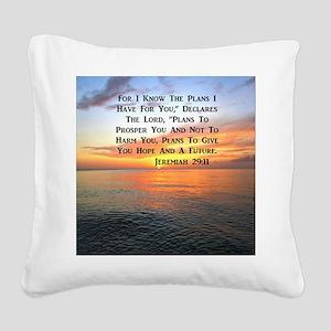 JEREMIAH 29:11 Square Canvas Pillow