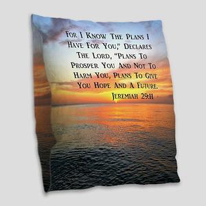 JEREMIAH 29:11 Burlap Throw Pillow