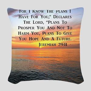 JEREMIAH 29:11 Woven Throw Pillow