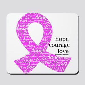 Breast Cancer Ribbons Mousepad