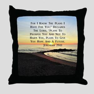 JEREMIAH 29:11 Throw Pillow