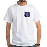 Masonic Police Badge White T-Shirt