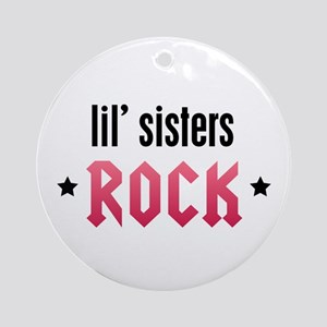 Little Sisters Rock Ornament (Round)