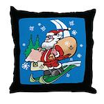 Santa's Masonic Throw Pillow