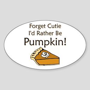 Pumpkin Pie Oval Sticker