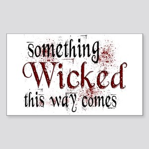 Something Wicked Rectangle Sticker